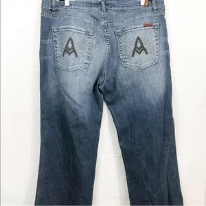 7 For All Mankind Jeans A Pocket Straight Leg